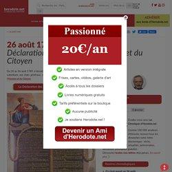 26 août 1789 - Déclaration des Droits de l'Homme et du Citoyen - Herodote.net