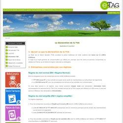 Déclaration de la TVA - CA3 - CA12 - Comptabilité - Logiciel comptable