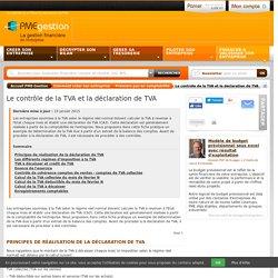 Le contrôle de la TVA et la déclaration de TVA