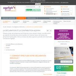 La déclaration et la contribution Agefiph - Vos obligations et démarches - Entreprise