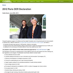 2012 Paris OER Declaration