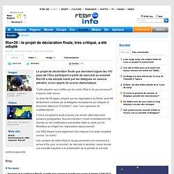 Rio+20 : le projet de déclaration finale, très critiqué, a été adopté