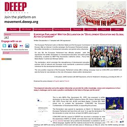DEEEP welcomes EP Declaration