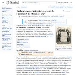 Déclaration des droits et des devoirs de l'homme et du citoyen de 1795