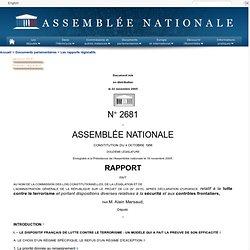2681 - Rapport de M. Alain Marsaud sur le projet de loi , après déclaration d'urgence, relatif à la lutte contre le terrorisme et portant dispositions diverses relatives à la sécurité et aux contrôles frontaliers (n°2615)