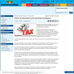 Online tax declaration at the doorsteps of taxpayers