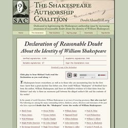 Declaration of Reasonable Doubt