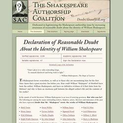 Declaration of Reasonable Doubt