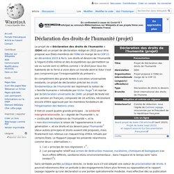 Déclaration des droits de l'humanité (projet)