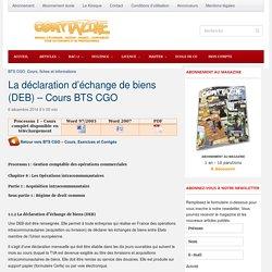 Déclaration échange de biens DEB