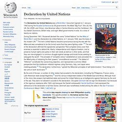 Declaration by United Nations