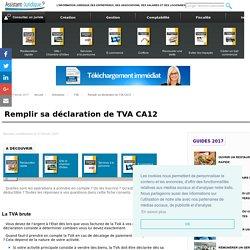 Remplir sa déclaration de TVA CA12 - Aide juridique entreprise en ligne gratuite