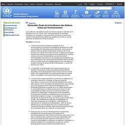Déclaration finale de la Conférence des Nations Unies sur l'environnement