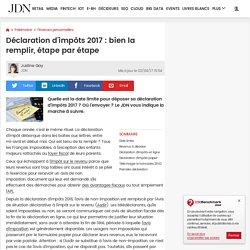 Déclaration d'impôts 2015 : comment bien la remplir, étape par étape - JDN