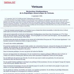 Doc.3 - Déclaration d'indépendance du Viêtnam 1945 [source]