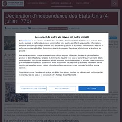 Déclaration d'indépendance des Etats-Unis (4 juillet 1776)