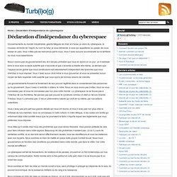 Déclaration d'indépendance du cyberespace