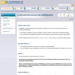 La déclaration sociale des indépendants (DSI, ex-DCR) sur net-entreprises.fr