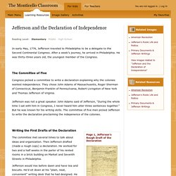 Learning Resources from Monticello: Jefferson and the Declaration of Independence