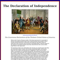Declaration Of Independence, When in the Course of human events, American history documents, 1776, Thomas Jefferson, Ben Franklin, John Adams, John Hancock