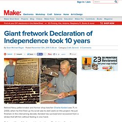 Make: Online : Giant fretwork Declaration of Independence took 10 years