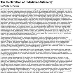 The Declaration of Individual Autonomy