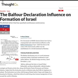 The Balfour Declaration Influence on Formation of Israel