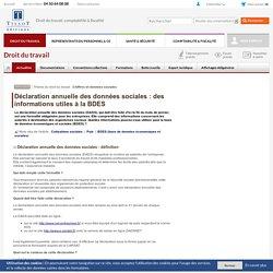 Déclaration annuelle des données sociales : des informations utiles à la BDES
