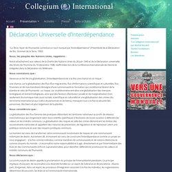 Déclaration Universelle d'Interdépendance