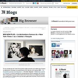 MOI NON PLUS – La déclaration d'amour du «New York Times» au «malaise» français