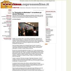 """La """"Déclaration de Manhattan"""": le manifeste qui secoue l'Amériqu"""