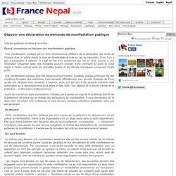 Déposer une déclaration de demande de manifestation publique France Nepal - Nepal France info