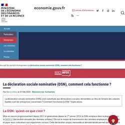 La déclaration sociale nominative (DSN), comment cela fonctionne