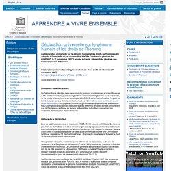 Déclaration universelle sur le génome humain et les droits de l'homme