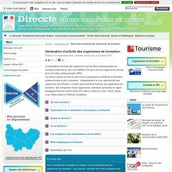 Déclaration d'activité des organismes de formation - Direccte Bourgogne-Franche-Comté