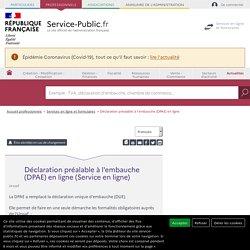 Déclaration préalable à l'embauche (DPAE) en ligne