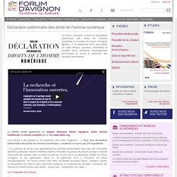 Déclaration préliminaire des droits de l'homme numérique