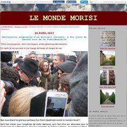 Déclaration solennelle d'un écrivain insoumis, à dix jours du Second tour de la Présidentielle - LE MONDE MORISI