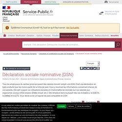 Déclaration sociale nominative (DSN)