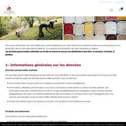 Déclaration relative à la protection des données (Conformité RGPD) - Terre Adélice