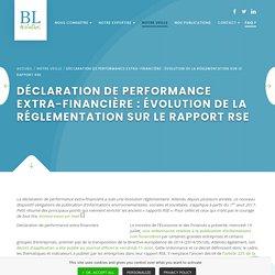 Déclaration de performance extra-financière : évolution de la réglementation ...