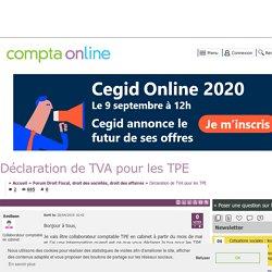 Déclaration de TVA pour les TPE