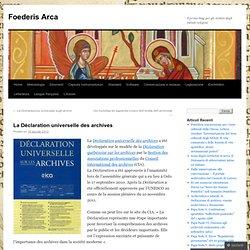 La Déclaration universelle des archives