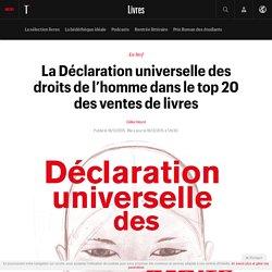 La Déclaration universelle des droits de l'homme dans le top 20 des ventes de livres