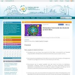 Déclaration Universelle des Droits de la Terre Mère