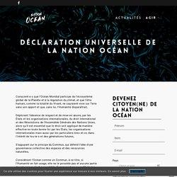 Déclaration Universelle de la Nation Océan - Nation Océan