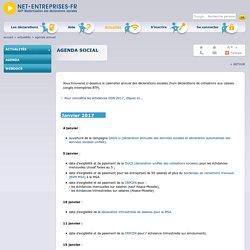 Agenda des déclarations sociales sur net-entreprises.fr