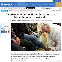 Les dix-neuf déclarations chocs du pape François depuis son élection