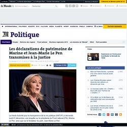 Les déclarations de patrimoine de Marine et Jean-Marie Le Pen transmises à la justice