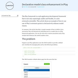 Declarative model class enhancement in Play